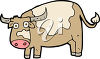 Clipart Illustration of a Cow