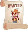 A cartoon wanted poster clipart