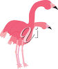 Flamingoes clipart