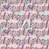 A birds and staff lines background clipart