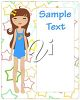 A girl and text space clipart