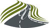 A winding road clipart