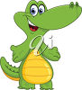 A funny alligator clipart