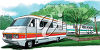 A camper in the country clipart