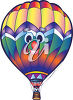 A hot air balloon clipart