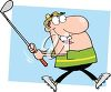 A cartoon golfer clipart