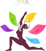 A woman doing yoga clipart