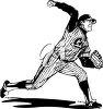 A baseball player clipart