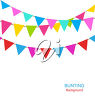 Streamers and pennants clipart