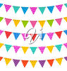 Streamers with pennants clipart