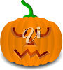 A carved pumpkin clipart