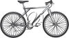 A boy's bike clipart