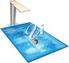 A child swimming clipart