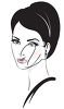 A woman's portrait clipart