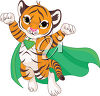 A superhero tiger clipart
