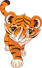 A baby tiger clipart
