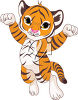 Cute Tiger Royalty-Free Clip Art Picture