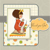 A girl giving thanks clipart