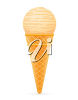 A single-scoop cone clipart