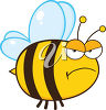 An angry bumblebee clipart