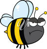 A happy bumblebee clipart