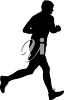 A man running clipart