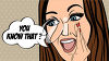 A cartoon with a woman saying you know that clipart