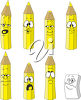 Pencil crayons and an eraser clipart