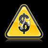 A sign with a symbol for dollar clipart
