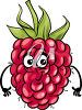 A smiling raspberry clipart