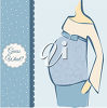 An invitation for a baby shower clipart