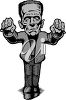 A frankenstein monster clipart
