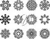 Twelve snowflakes clipart