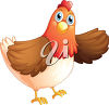A happy hen clipart