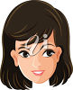A smiling woman clipart