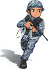 A fighting soldier clipart