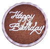 A cake with a birthday message clipart