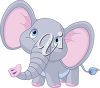 A cartoon elephant clipart