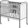 A baby's crib clipart