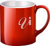 A red mug clipart