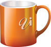An orange mug clipart