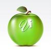 A green apple clipart