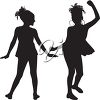 Two little dancers clipart
