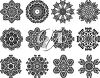 A set of snowflakes clipart