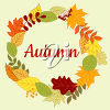 A wreath of autumn leaves clipart