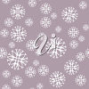 A wallpaper with snowflakes clipart