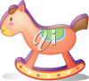 A rocking horse clipart