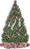 A decorated tree clipart