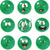 A set of button faces clipart