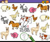 A find the same picture game clipart
